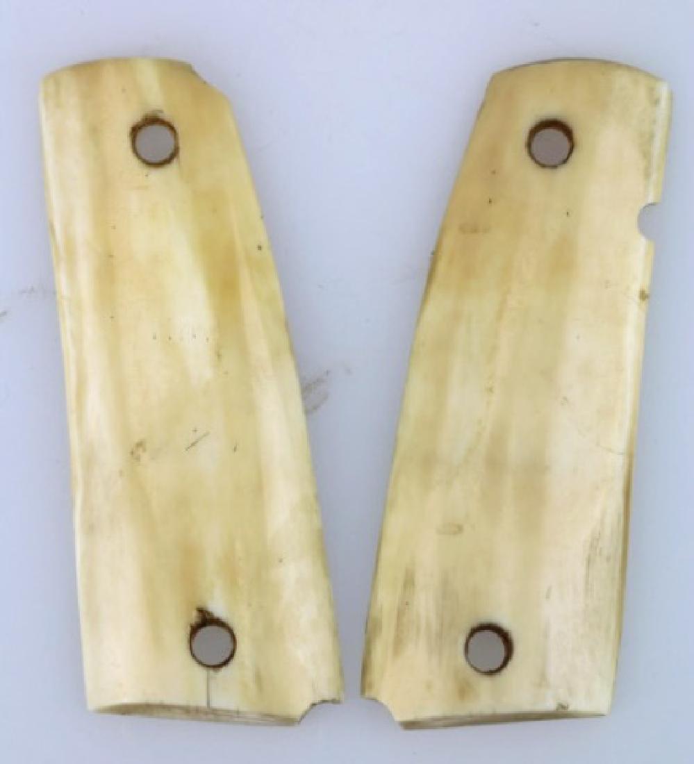 ANTIQUE HAND CARVED PISTOL GRIPS