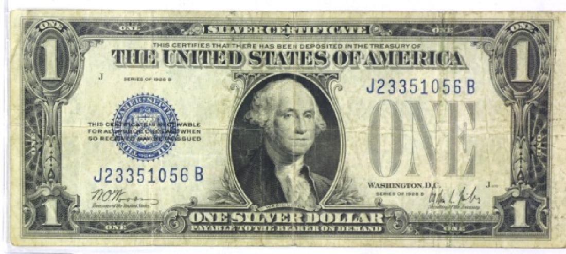 1928B  $1 SILVER DOLLAR TREASURY CERTIFICATE NOTE