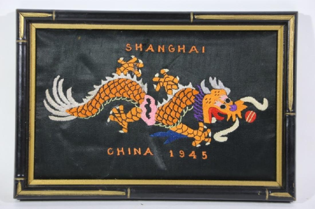 CHINESE SHANGHAI WW11 ERA 1945 NEEDLEWORK