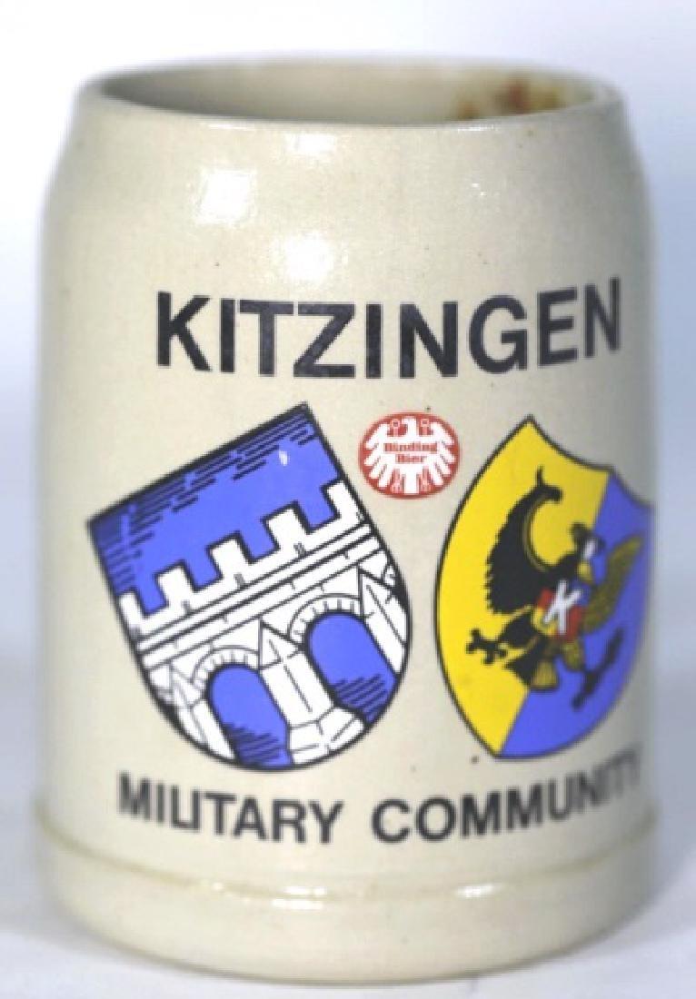 KITZINGER MILITARY COMMUNITY GERMAN MUG STEIN