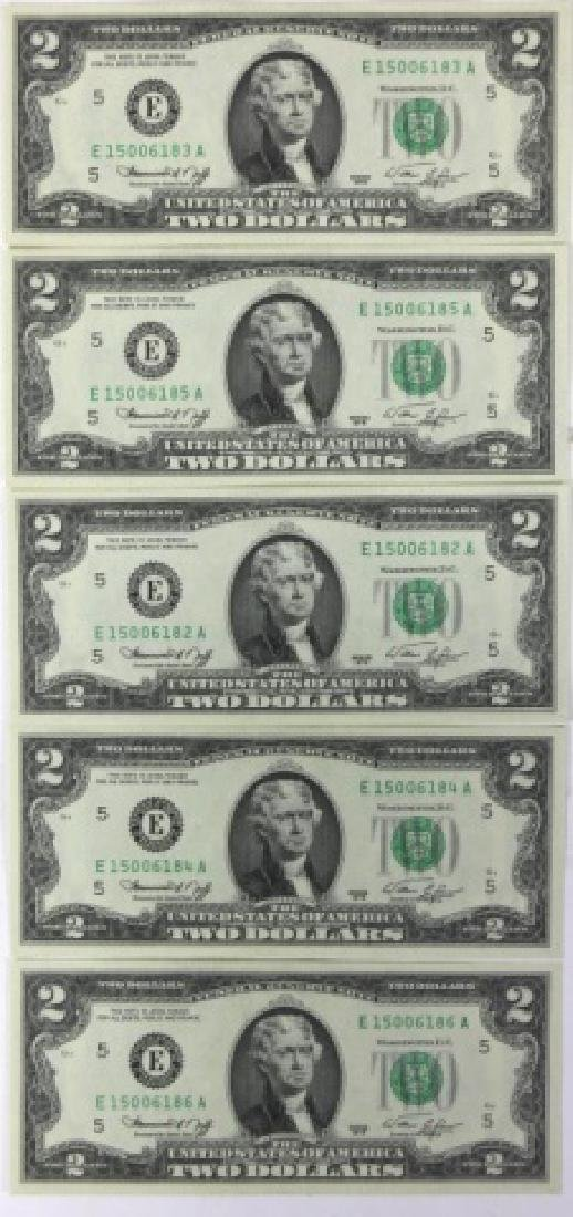 1976 BICENTENIAL CONSECTUTIVE $2.00 FEDERAL NOTES