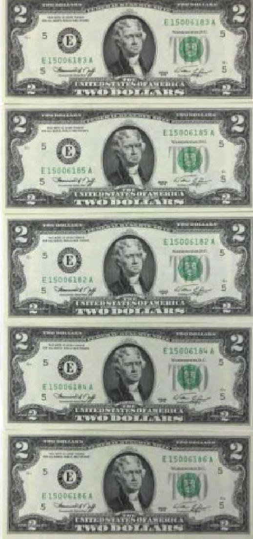 1976 BICENTENIAL CONSECTUTIVE $2.00 FEDERAL NOTES - 4