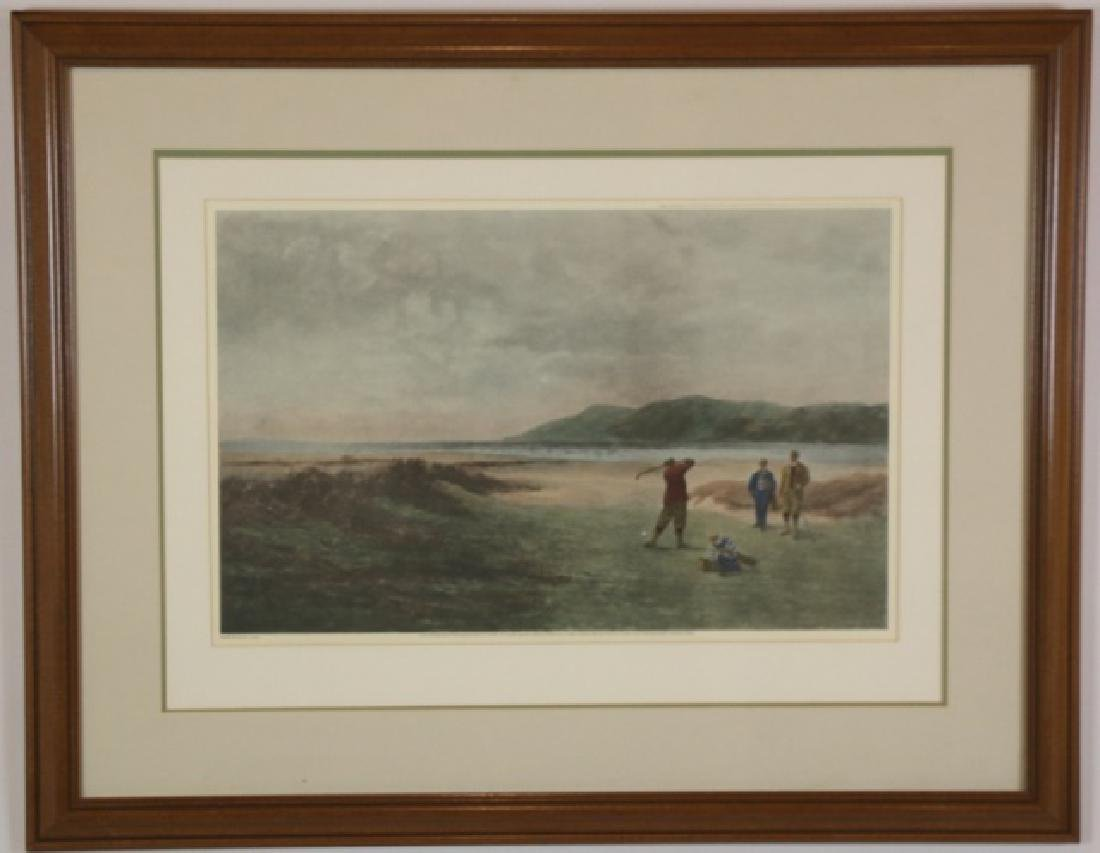 """GOLF ENGRAVING""""THE DUNES"""" AFTER ADAMS"""