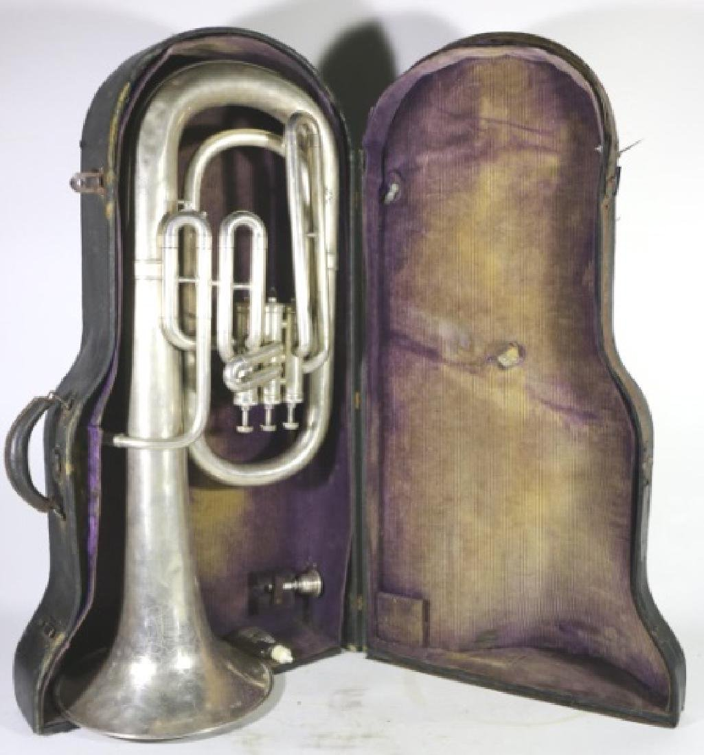 AMERICAN STANDARD ANTIQUE SILVER BARITONE IN CASE