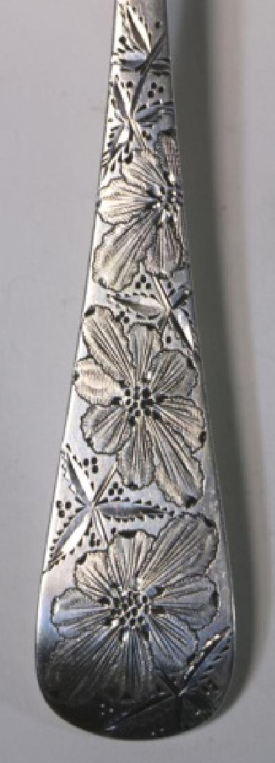 STERLING SIVER VICTORIAN HAND CHASED BERRY SPOON - 5