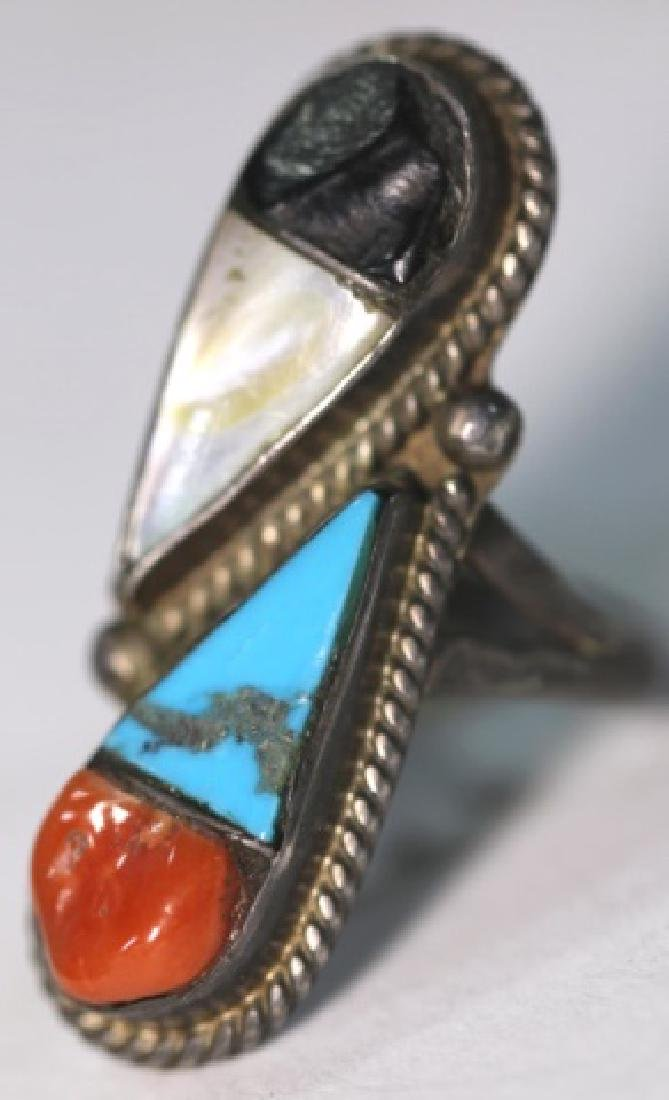 NATIVE AMERICAN STERLING TAXCO SIGNED RING