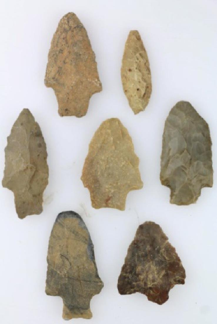 NATIVE AMERCIAN PIEDMONT POINTS / SPEAR HEAD GROUP - 5