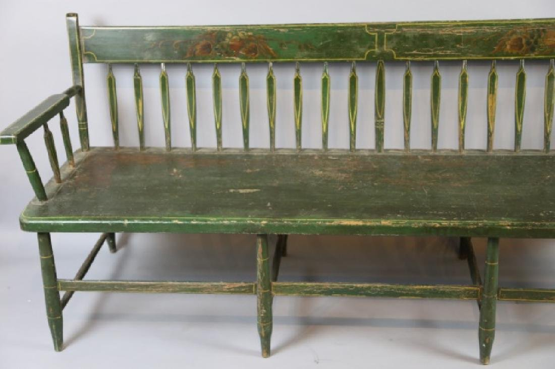 AMERICAN SOUTHERN FINE ANTIQUE  PARSONS LONG BENCH - 5
