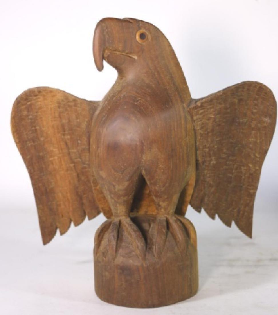 HENRY WINTER CARVED WALNUT EAGLE, SIGNED