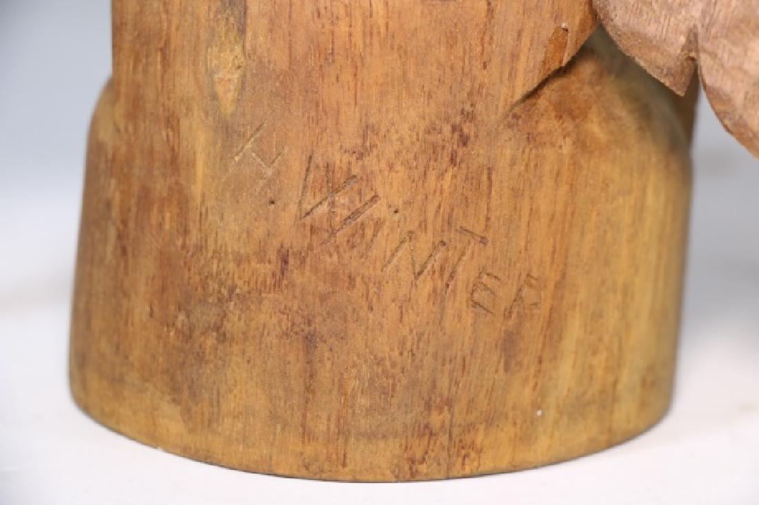 HENRY WINTER CARVED WALNUT EAGLE, SIGNED - 7