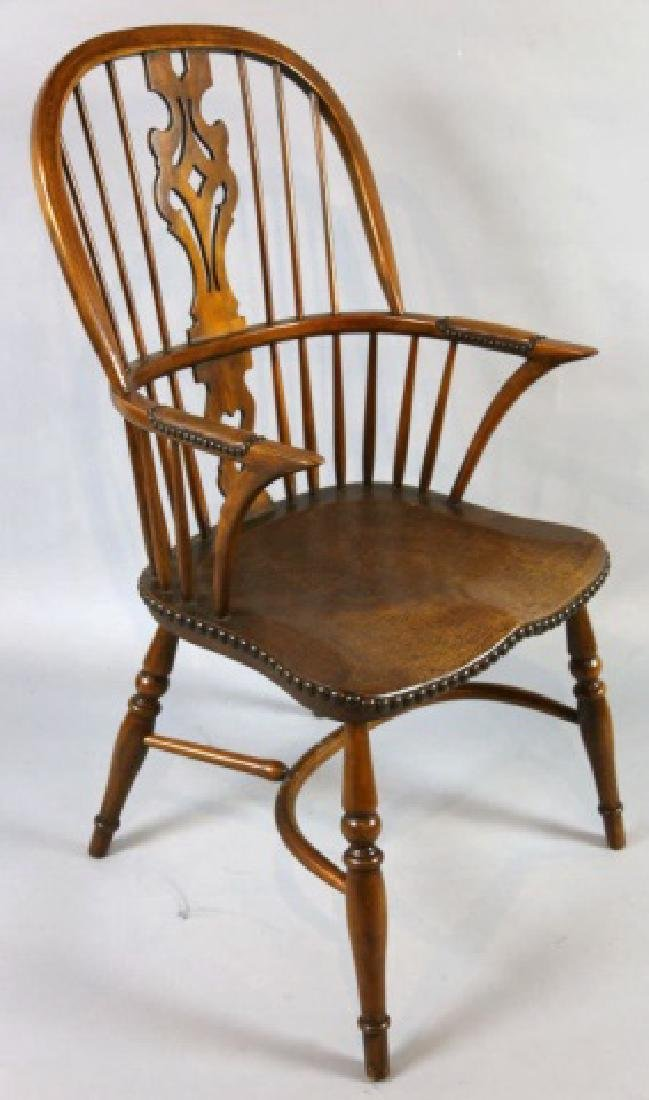 THEODORE ALEXANDER WINDSOR NAIL TRIMMED ARMCHAIR