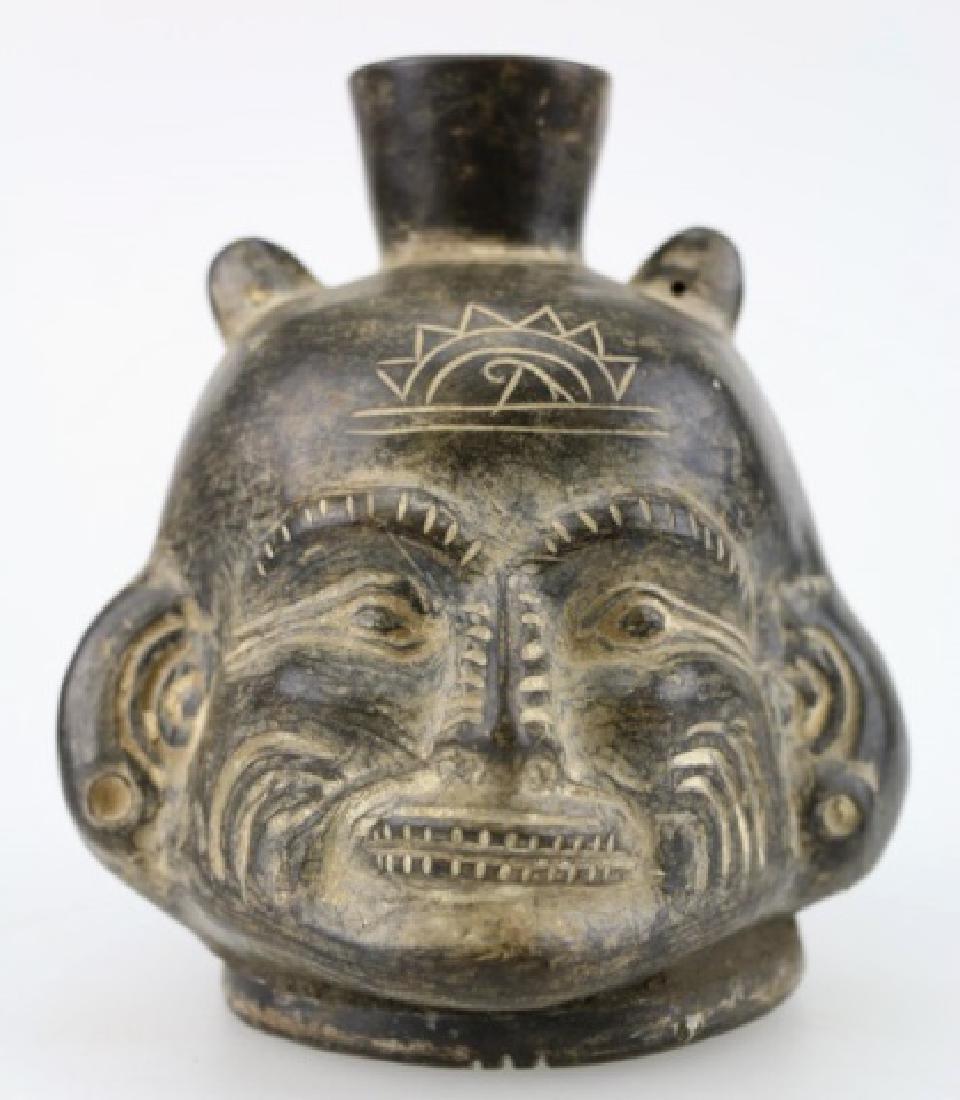 PRE-COLUMBIAN PERU, CHAVIN, PORTRAIT VESSEL