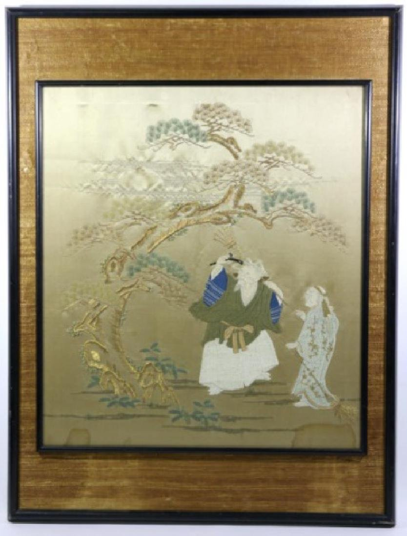 CHINESE FRAMED NEEDLEWORK