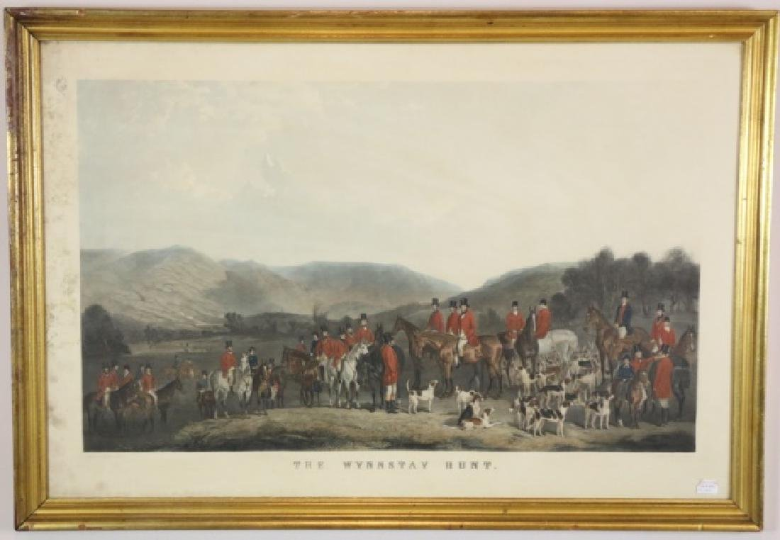 "ENGLISH HUNT SCENE  ""THE WYNNSTAY HUNT"""