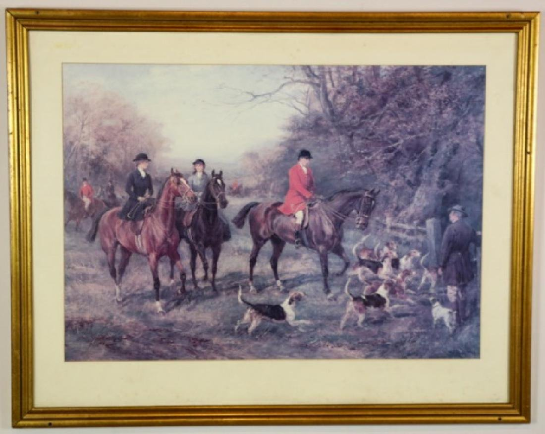 FOX HUNT PRINT AFTER HAYWOOD HARDY