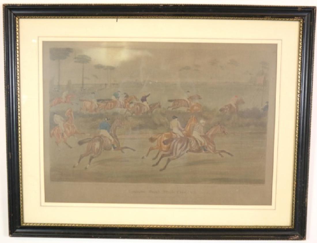 LEAMINGTON GRAND STEEPLE CHASE PRINT, 1837