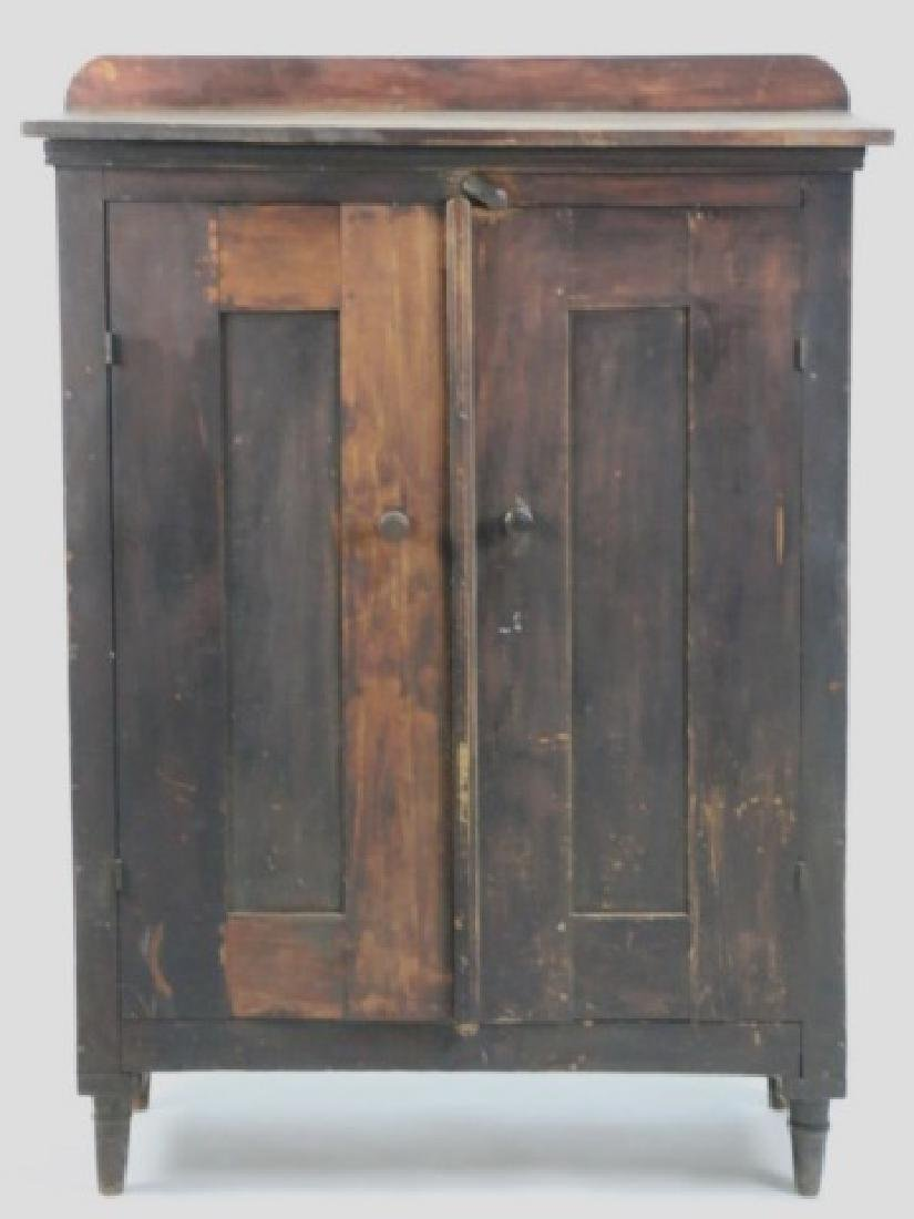 SHENANDOAH VALLEY ANTIQUE  PAINTED BLIND CUPBOARD