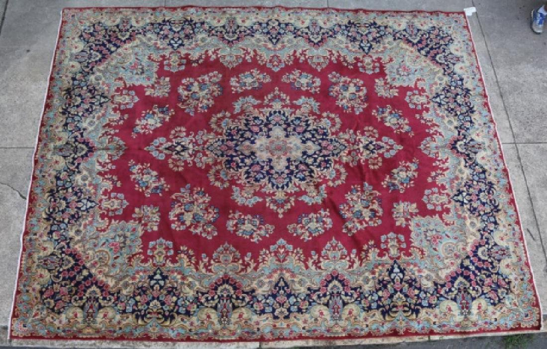 PERSIAN HAND WOVEN KERMAN ROOM SIZE CARPET