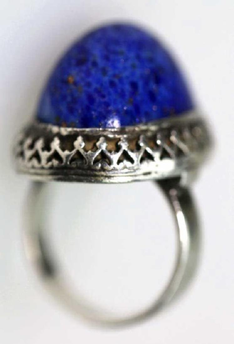 STERLING SILVER/ LAPIS LAZULE CUSTOM COCKTAIL RING