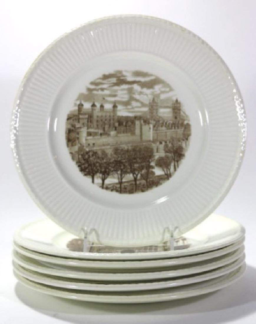 """WEDGWOOD """"VIEWS OF OLD LONDON"""" CABINET PLATES - 2"""