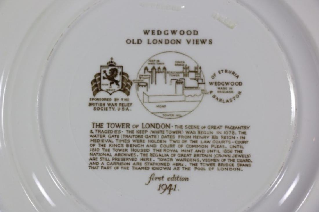 """WEDGWOOD """"VIEWS OF OLD LONDON"""" CABINET PLATES - 3"""