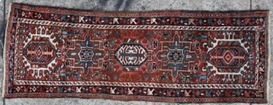 PERSIAN HERIZ ANTIQUE HAND WOVEN AREA RUNNER