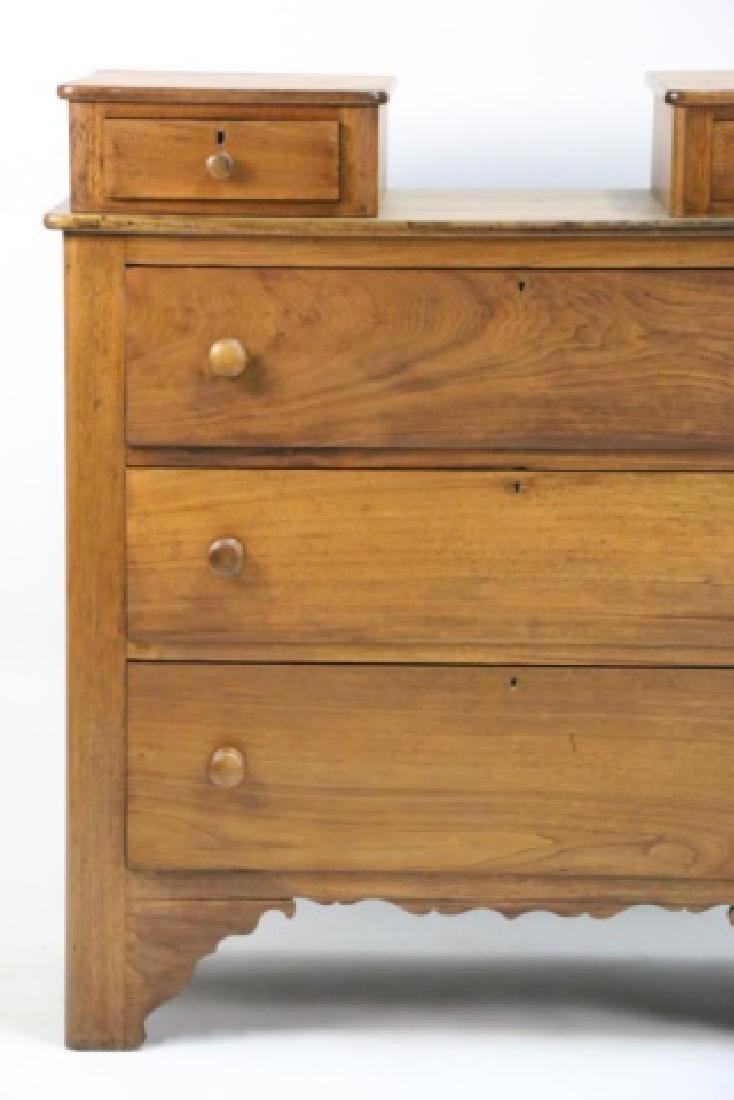 AMERICAN ANTIQUE BLACK WALNUT TALL SOUTHERN CHEST - 3