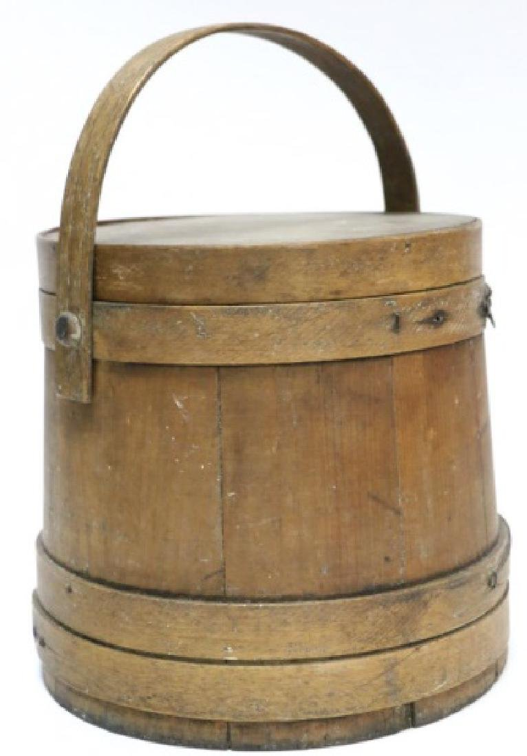ANTIQUE PRIMITIVE SHAKER BUCKET / BASKET