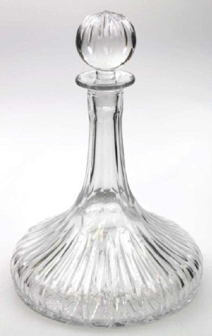 FINE CUT GLASS SHIPS DECANTER