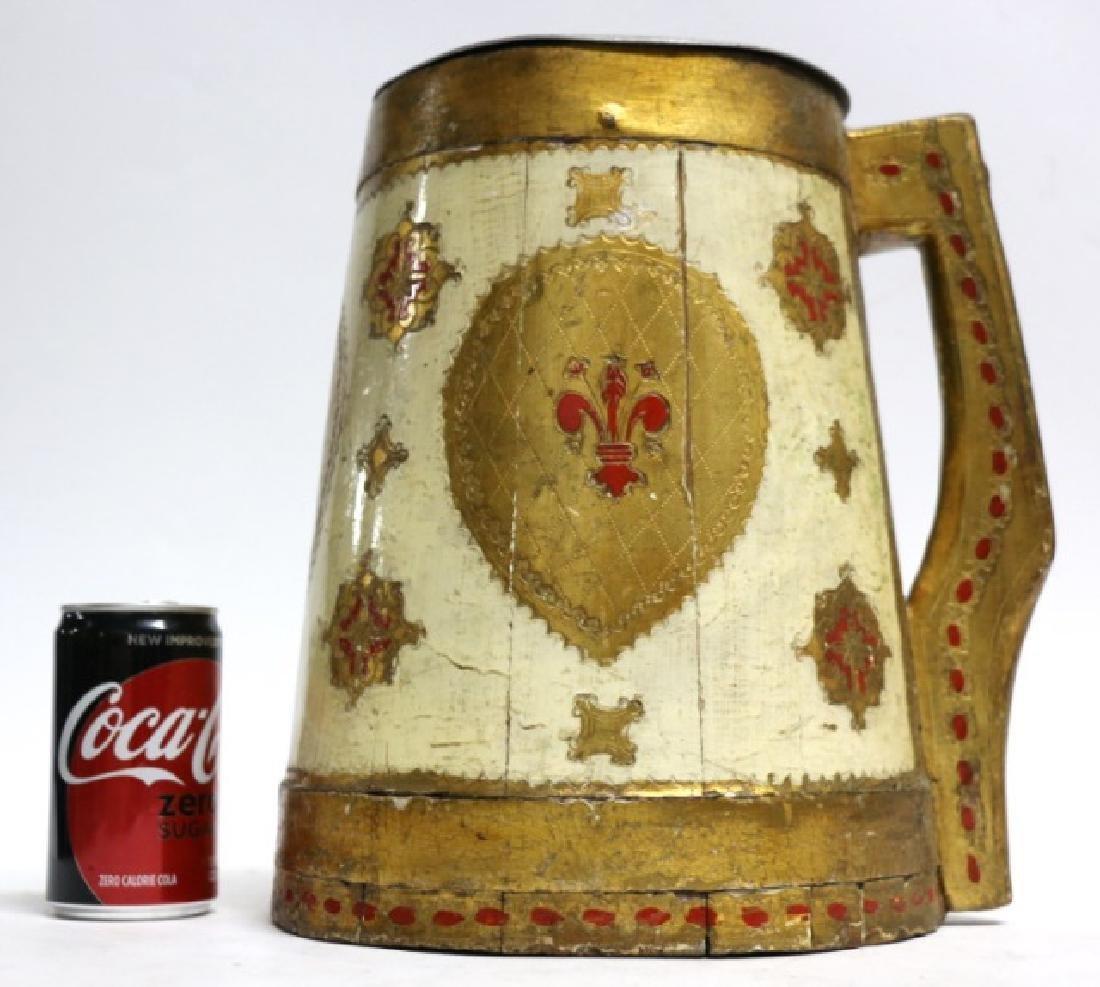 ITALIAN PARCEL GILT WOODEN COOLER
