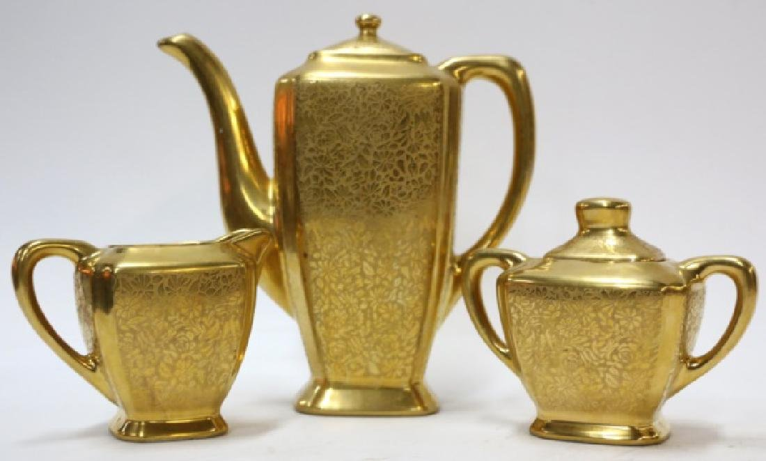 WHEELING GOLD PORCELAIN TEA SERVICE