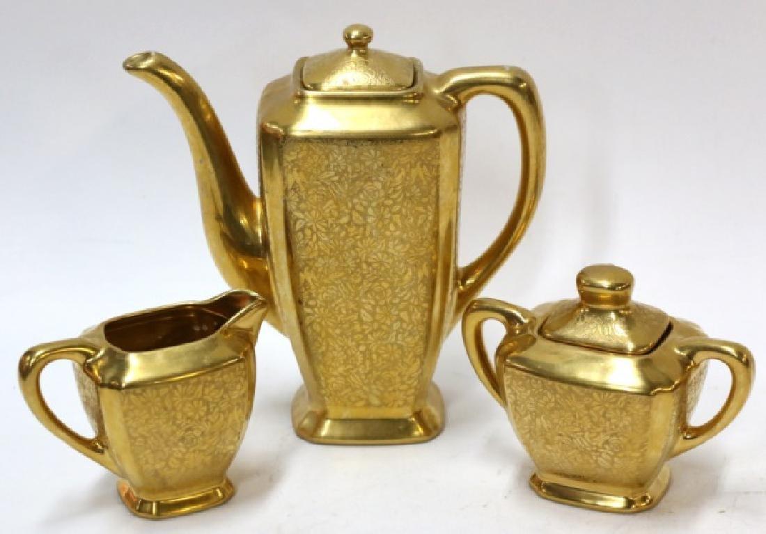 WHEELING GOLD PORCELAIN TEA SERVICE - 2