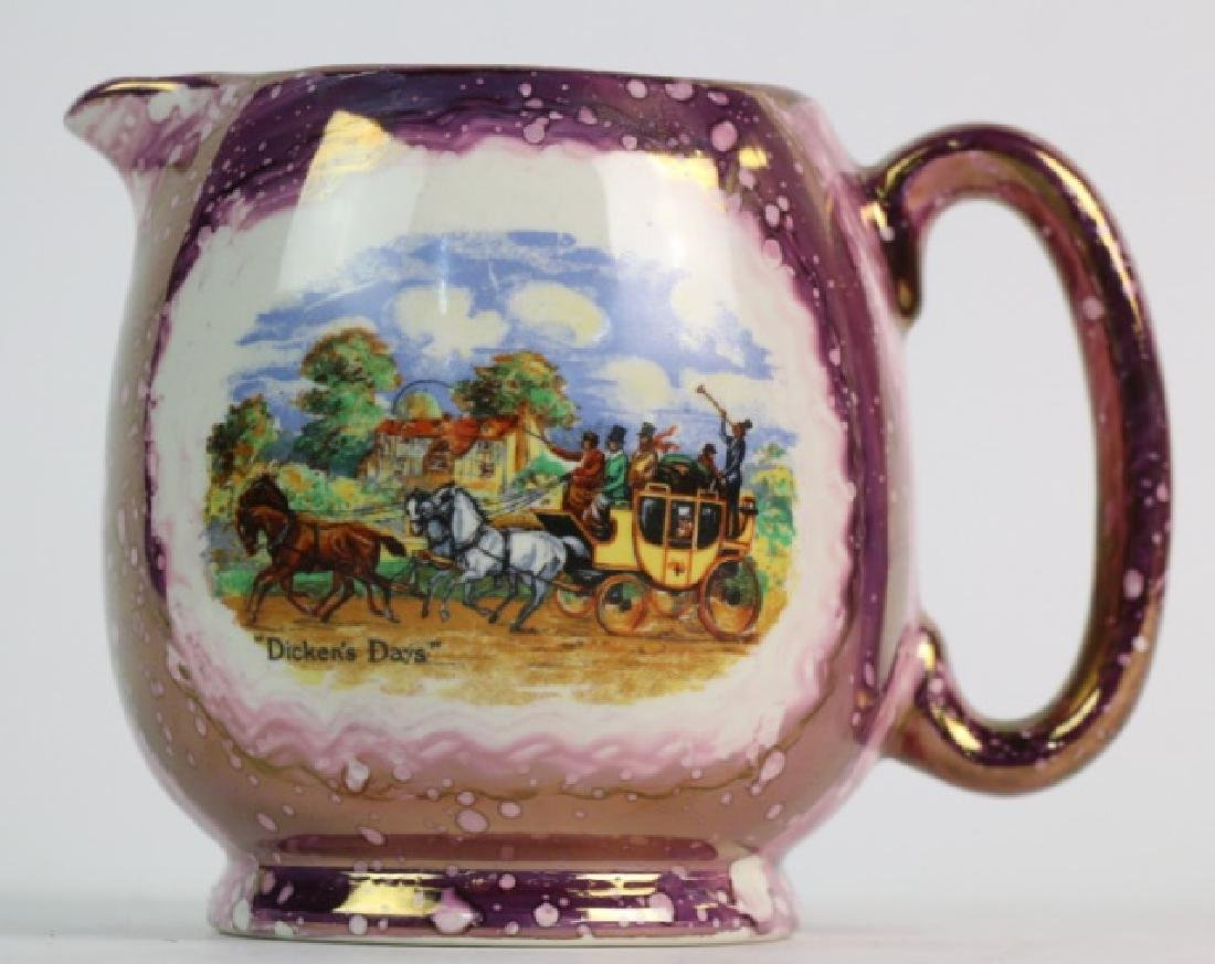 "ENGLISH GRAYS POTTERY ""DICKENS DAYS"" COPPER LUSTER"