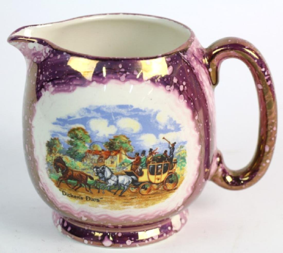 "ENGLISH GRAYS POTTERY ""DICKENS DAYS"" COPPER LUSTER - 2"