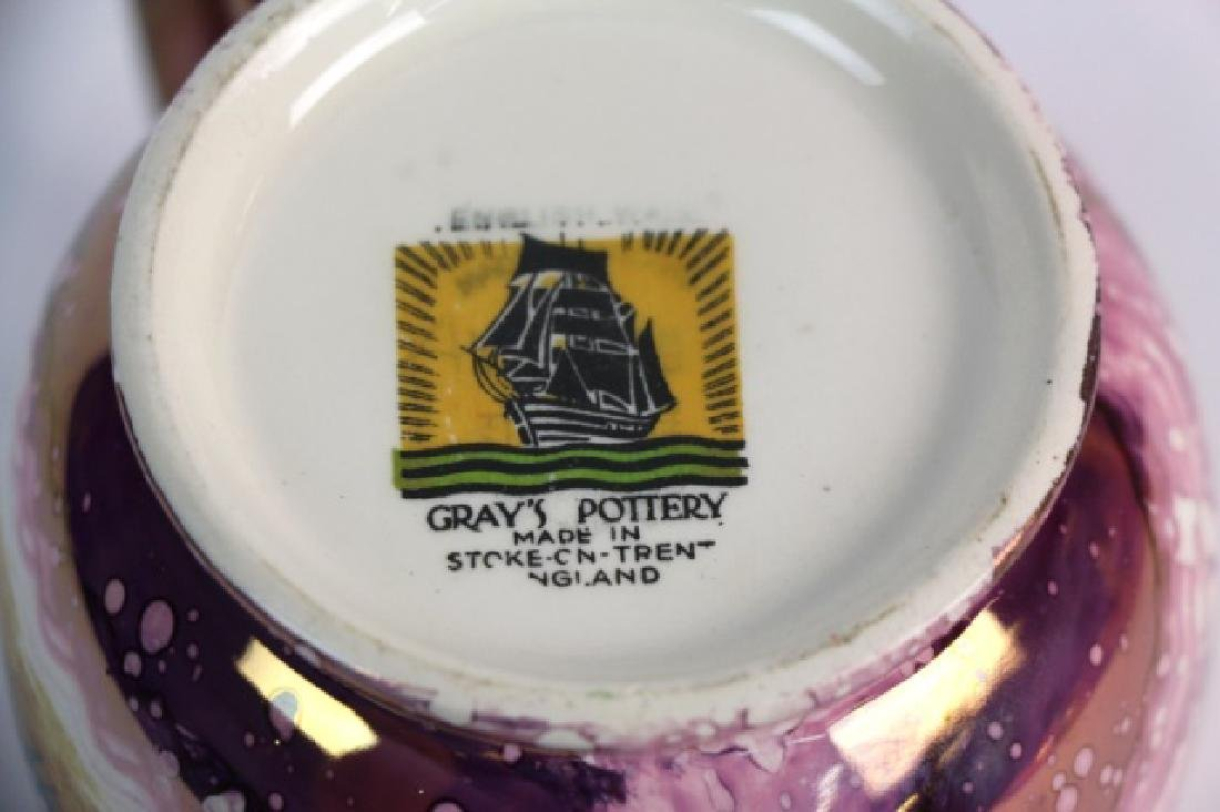 "ENGLISH GRAYS POTTERY ""DICKENS DAYS"" COPPER LUSTER - 3"