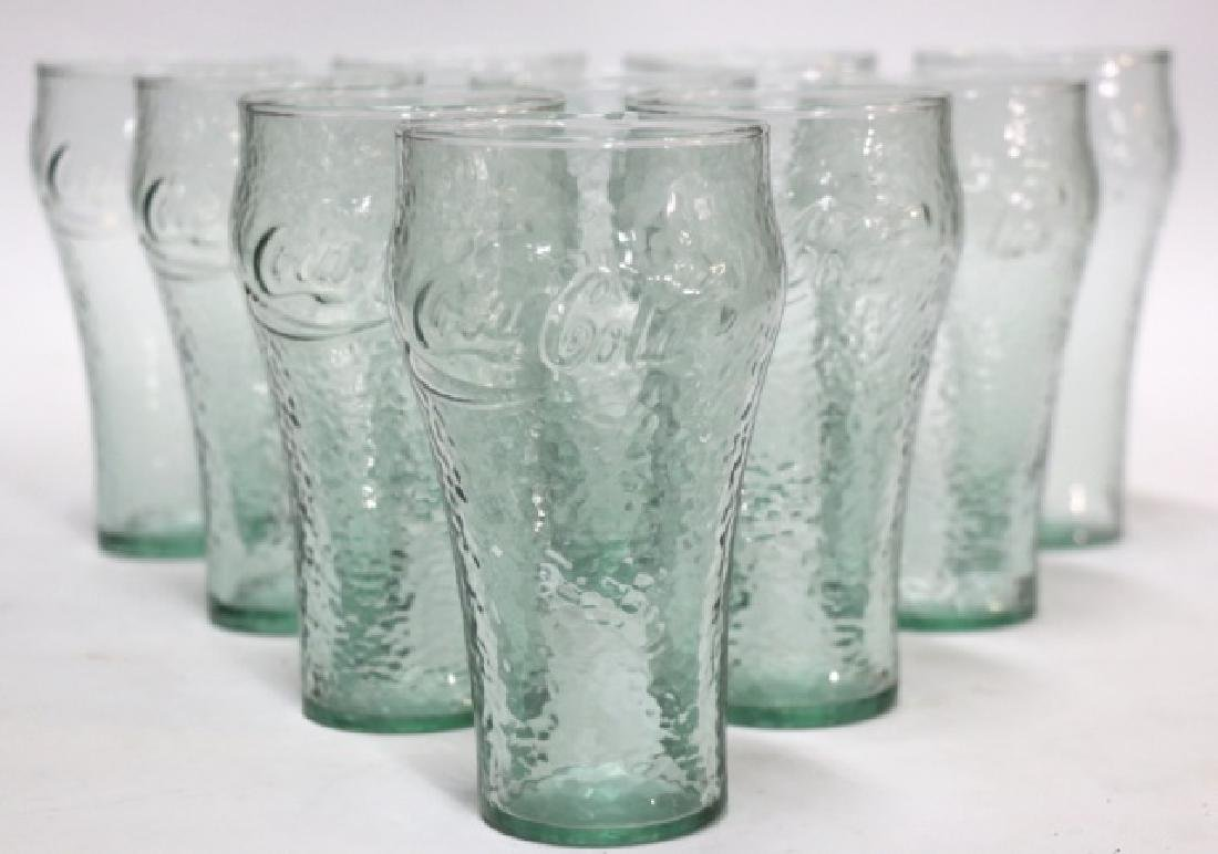 COCA-COLA VINTAGE TALL GLASS GROUPING