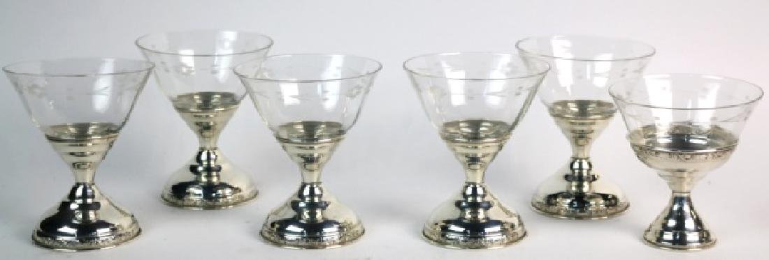 STERLING SILVER CUT CRYSTAL COMPOTE GROUPING