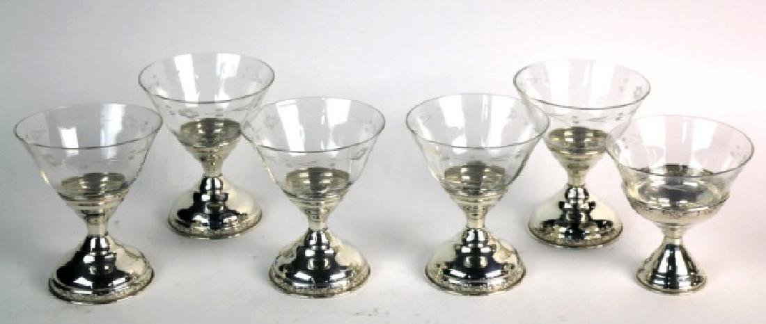 STERLING SILVER CUT CRYSTAL COMPOTE GROUPING - 2