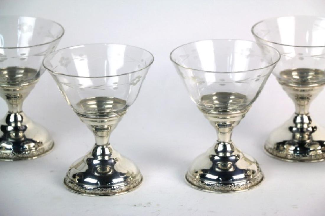 STERLING SILVER CUT CRYSTAL COMPOTE GROUPING - 3