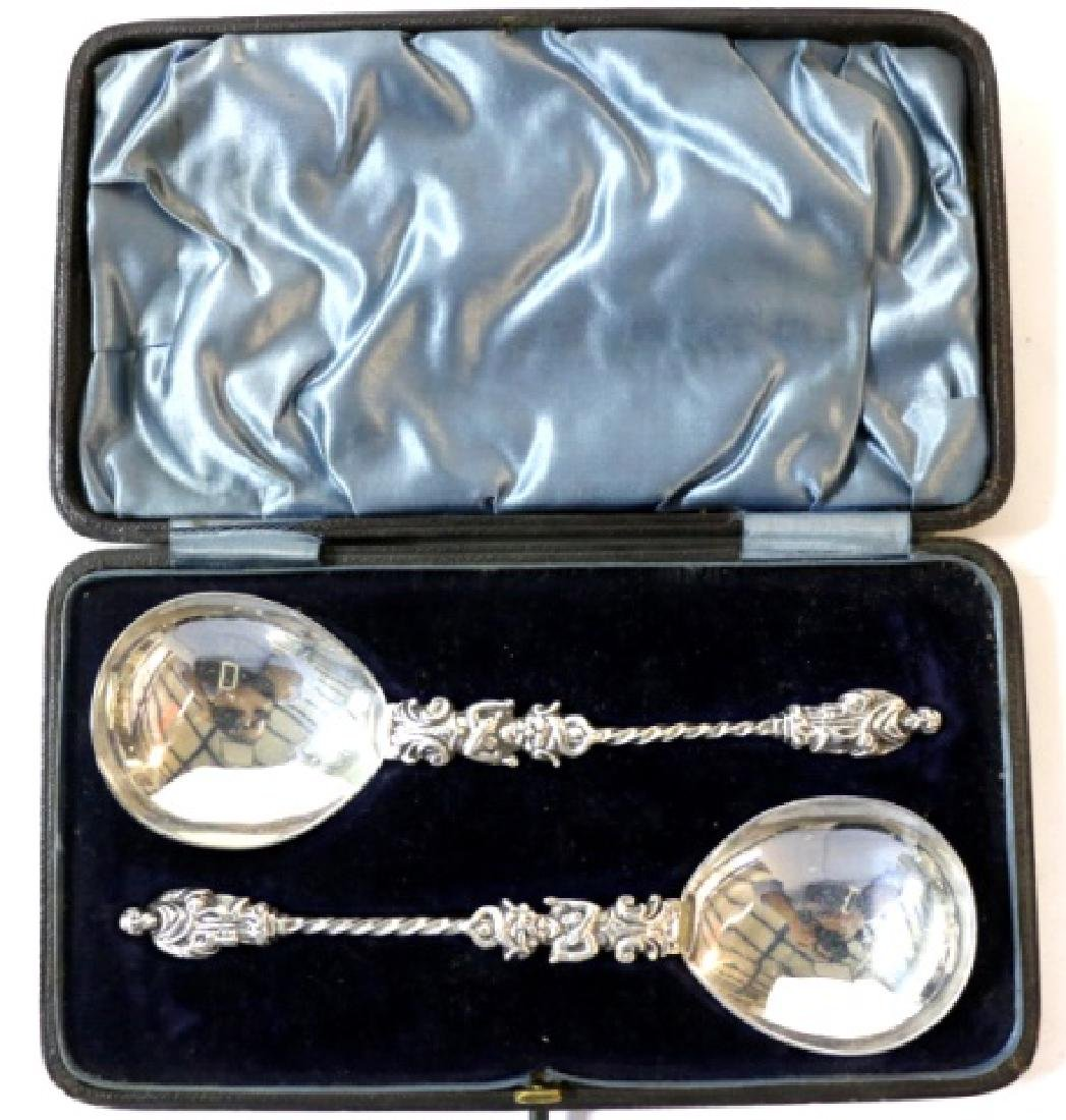 ANTIQUE SILVER HALLMARKED PRESENTAION SPOON SET