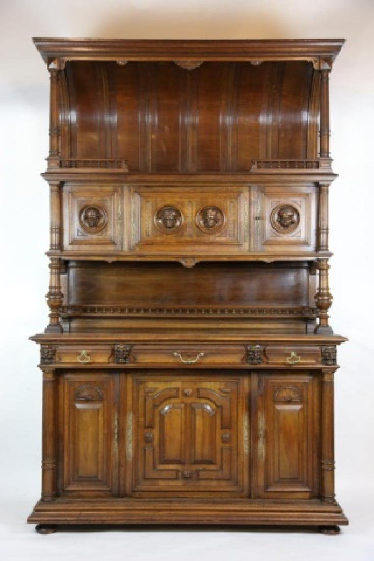 FRENCH ANTIQUE HAND CARVED PALATIAL BUFFET
