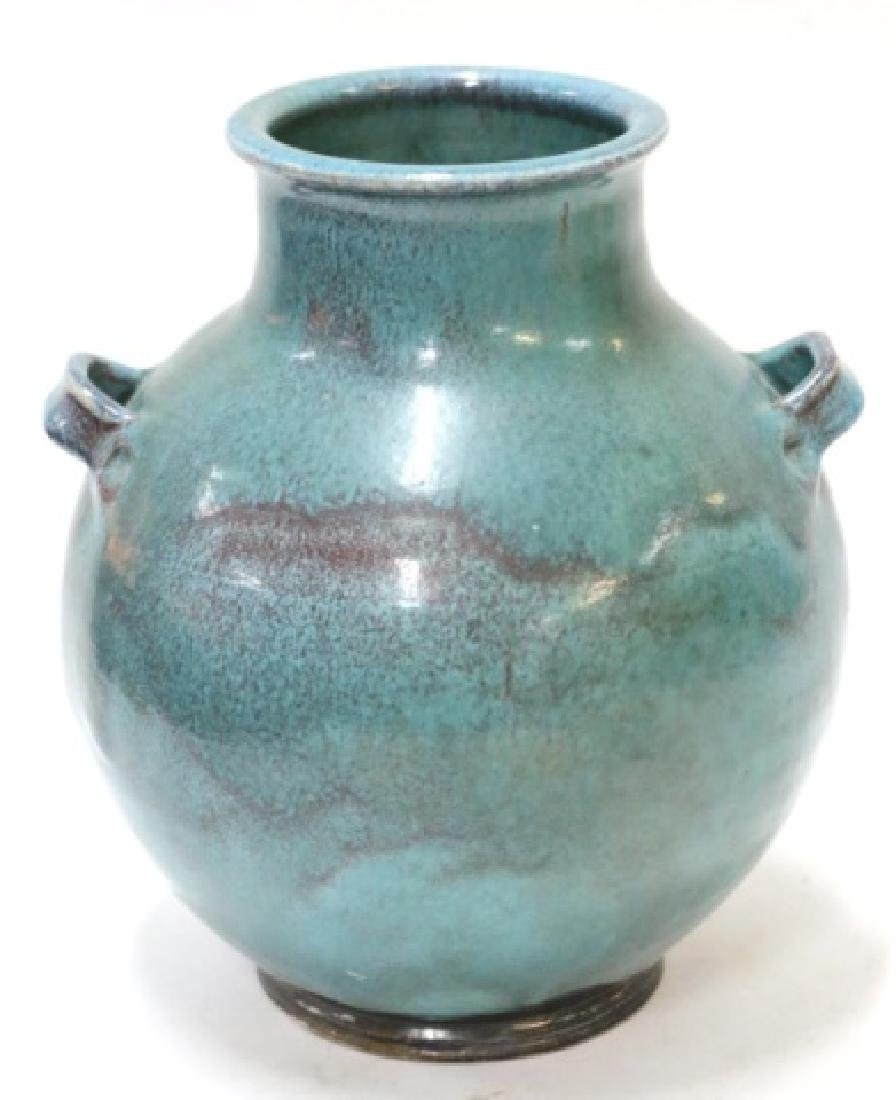 BEN OWN III POTTERY TWIN HANDLED POT - 2