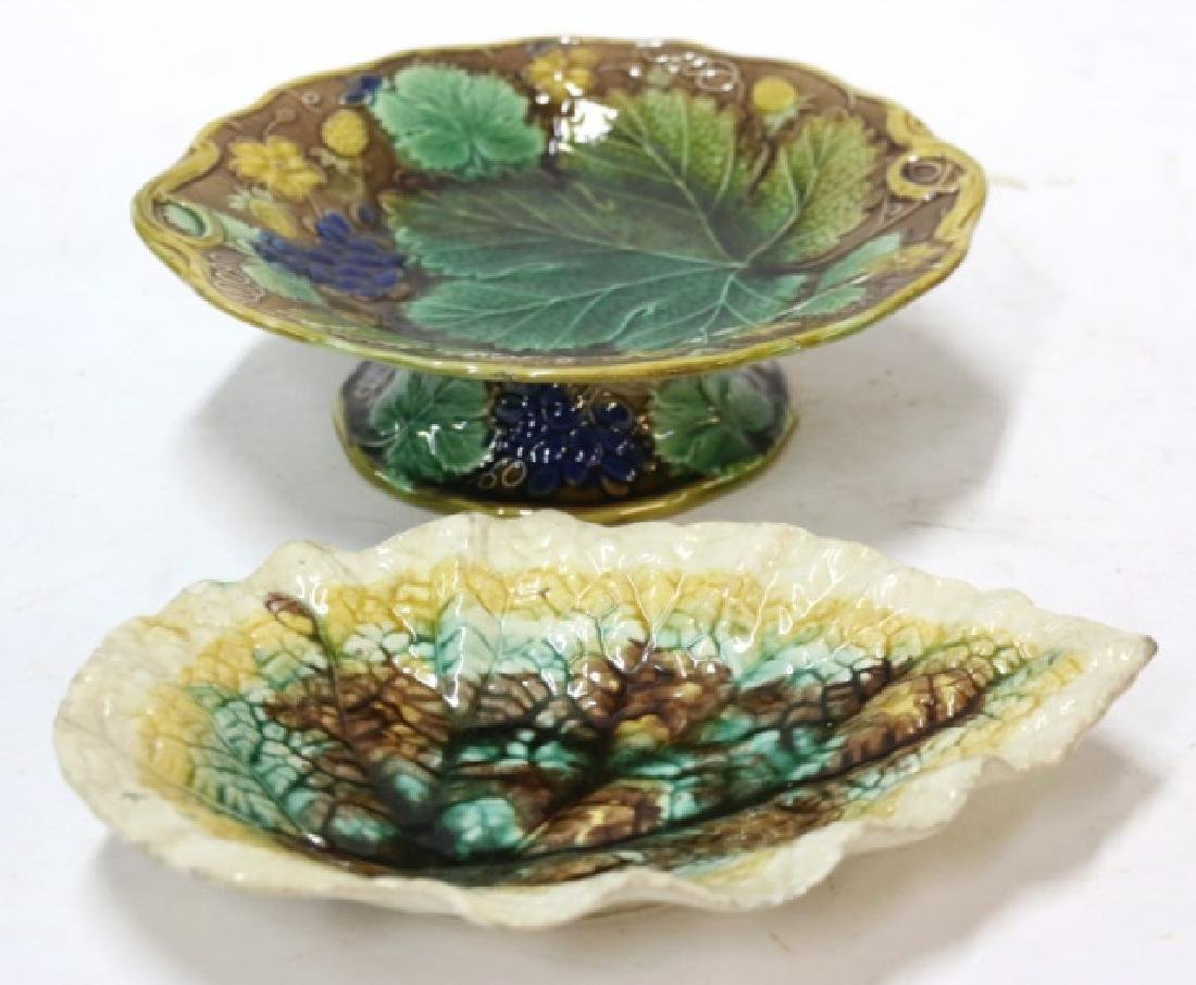 FRENCH ANTIQUE MAJOLICA GROUPING