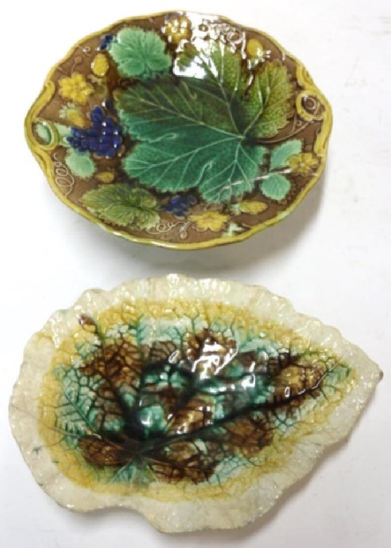 FRENCH ANTIQUE MAJOLICA GROUPING - 2
