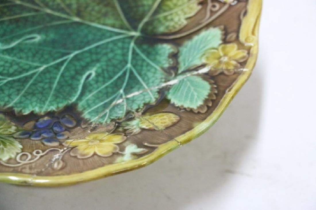 FRENCH ANTIQUE MAJOLICA GROUPING - 6
