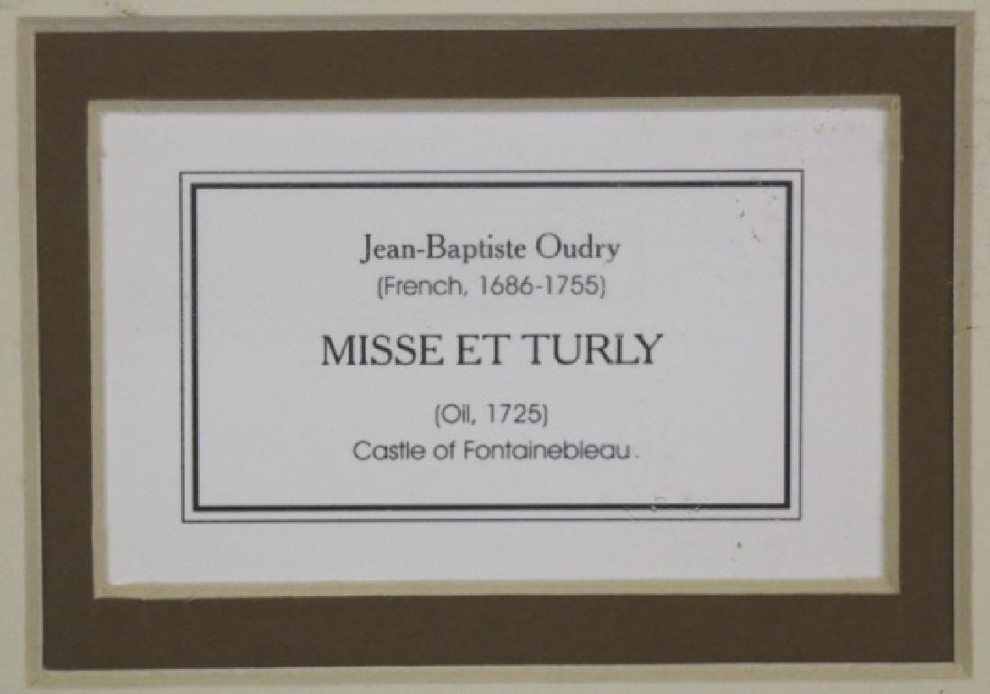 "JEAN BAPTISTE OUDRY ""MISSE ET TURLY"" PRINT - 5"