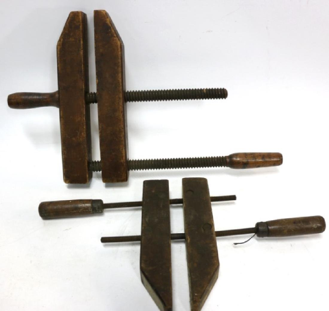 ANTIQUE WOOD CLAMP GROUPING