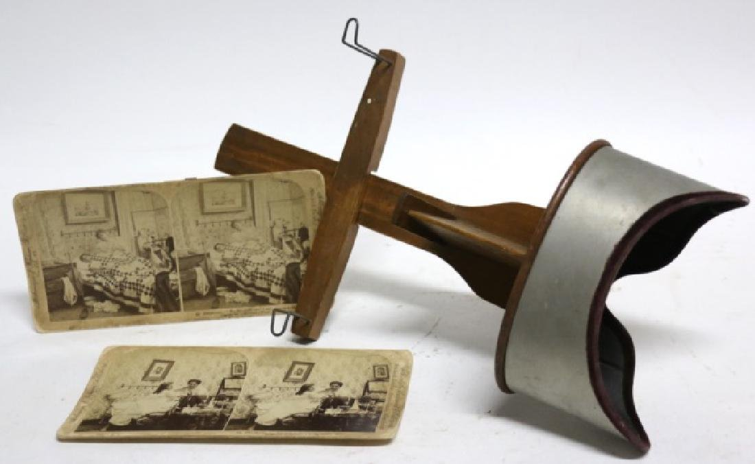 ANTIQUE KAWIN & CO STEREOSCOPE VIEWER & CARD GROUP