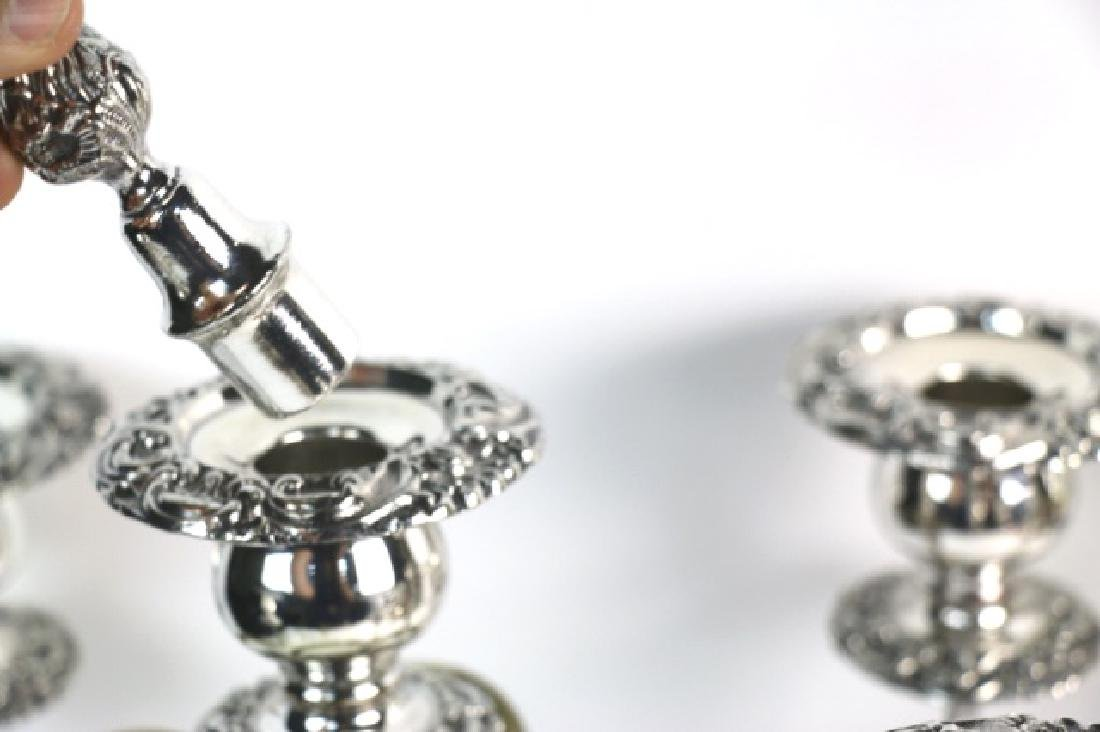 FIVE-ARM SILVER CANDELABRA WITH FINIALS - 3