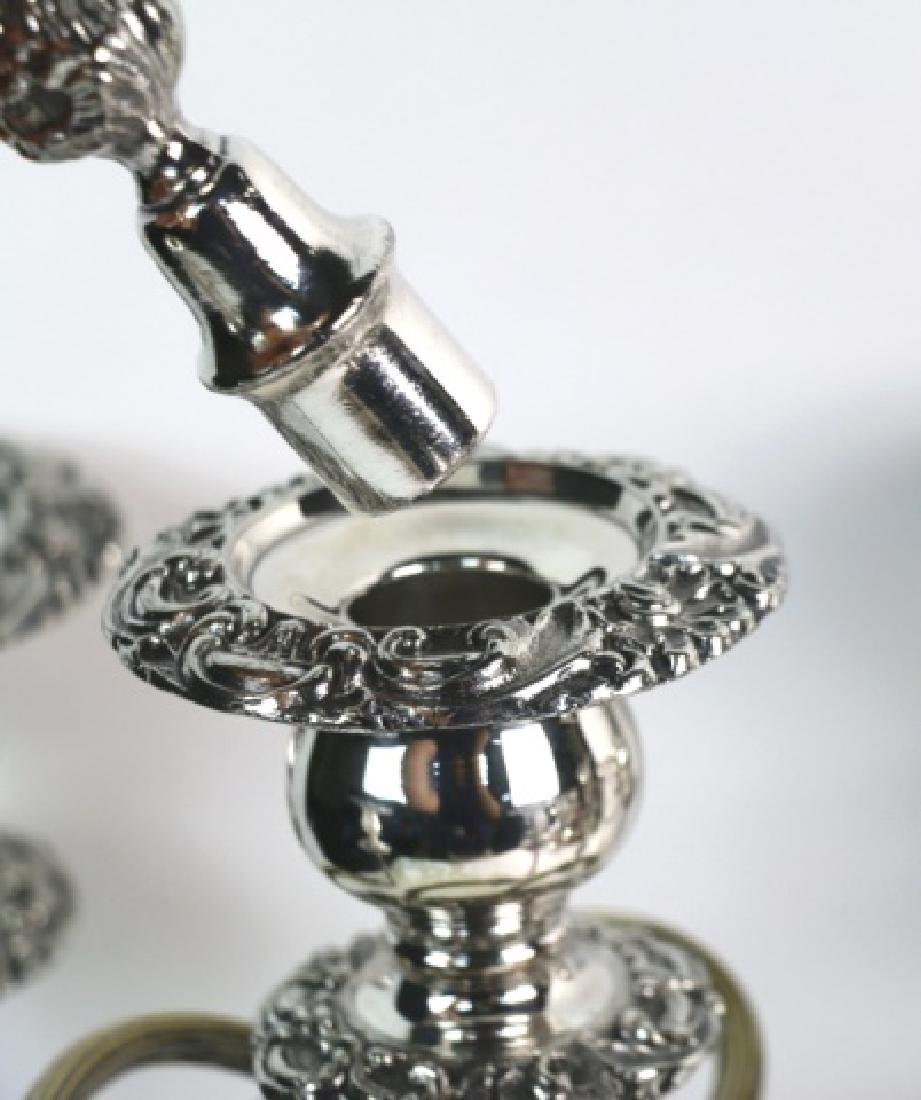 FIVE-ARM SILVER CANDELABRA WITH FINIALS - 4
